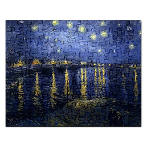 Starry Sky Over The Rhone Jigsaw Puzzle By Teeje   Jigsaw Puzzle (rectangular)   Izth0njo3cpw   Www Artscow Com Front