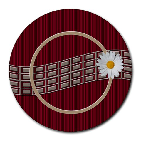 Daisy Mousepad By Daniela   Round Mousepad   Vo5iogwc1d23   Www Artscow Com Front