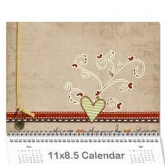 Calander 2011 By Amanda   Wall Calendar 11  X 8 5  (18 Months)   Xb2nnfcmvrqp   Www Artscow Com Cover