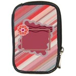 Red flower leather case - Compact Camera Leather Case