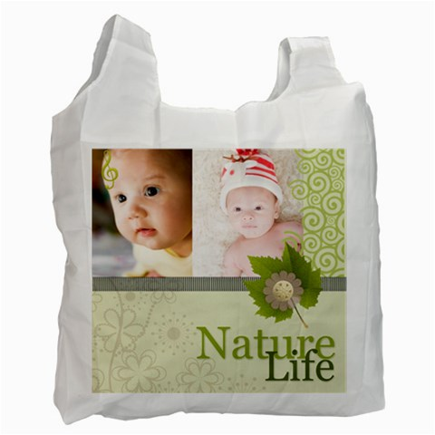 Nature Of Life By Joely   Recycle Bag (one Side)   4hhcyb4ayjsq   Www Artscow Com Front