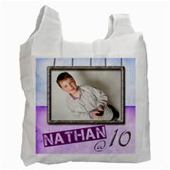 Nathan   10 Recycle Bag Double Sided By Catvinnat   Recycle Bag (two Side)   I8dblmnchmol   Www Artscow Com Front