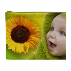 Sunflower Baby Cosmetic Bag Xl By Elena Petrova   Cosmetic Bag (xl)   0ru0w3r7ssq7   Www Artscow Com Front