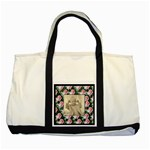 Rosy Posy 2 tone tote bag - Two Tone Tote Bag
