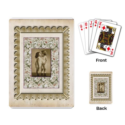 Kiss Vintage Frame Playing Cards By Catvinnat   Playing Cards Single Design   Qosxbv7138q6   Www Artscow Com Back