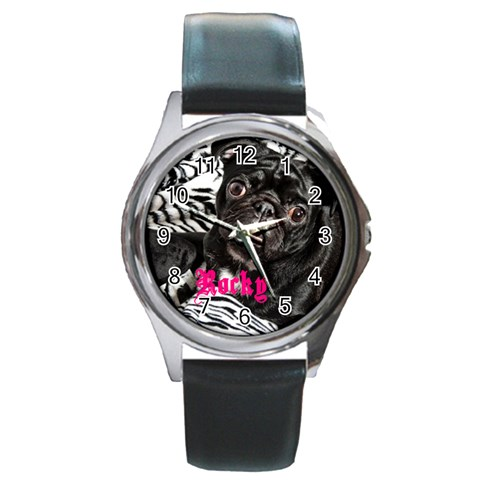 Rocky Girl Watch Option 2 By Chantel Reid Demeter   Round Metal Watch   Gembb11nddma   Www Artscow Com Front