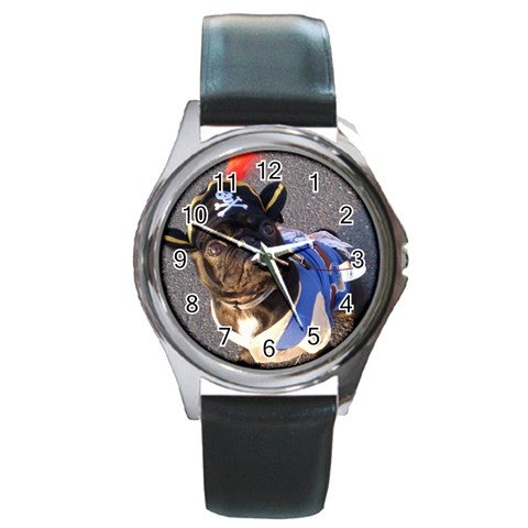 Rocky Pirate Watch By Chantel Reid Demeter   Round Metal Watch   Pbvr5my9a6up   Www Artscow Com Front