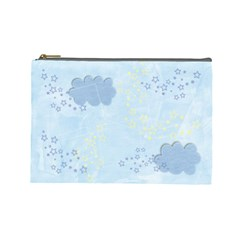 Stars/clouds Custom Cosmetic Bag (large)  By Mikki   Cosmetic Bag (large)   Ym4z9s2biaq7   Www Artscow Com Front