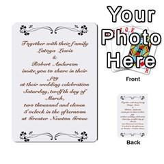 Toya & Roberts Wedding By Jr   Multi Purpose Cards (rectangle)   Jjalc1xz8as4   Www Artscow Com Back 6