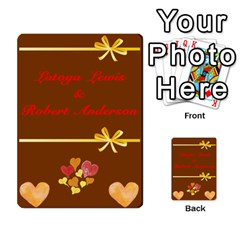 Toya & Roberts Wedding By Jr   Multi Purpose Cards (rectangle)   Jjalc1xz8as4   Www Artscow Com Front 3