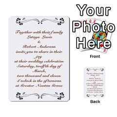 Toya & Roberts Wedding By Jr   Multi Purpose Cards (rectangle)   Jjalc1xz8as4   Www Artscow Com Back 4