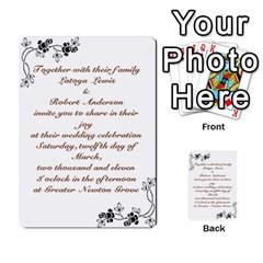 Toya & Roberts Wedding By Jr   Multi Purpose Cards (rectangle)   Jjalc1xz8as4   Www Artscow Com Back 5