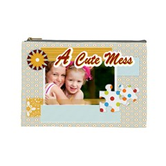 A Cute Kids By Joely   Cosmetic Bag (large)   Ld6dotltnnop   Www Artscow Com Front