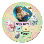 Cute & Fuzzy 5  Magnet - Magnet 5  (Round)