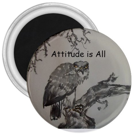 Attitude I S All By Trine   3  Magnet   Dkok4gtorign   Www Artscow Com Front