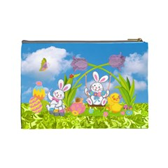 Happy Easter Large Cosmetic Bag By Catvinnat   Cosmetic Bag (large)   Hqhy1ue8dktd   Www Artscow Com Back