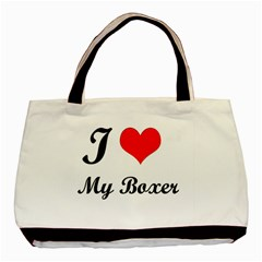 I Love My Boxer Classic Tote Bag (two Sides)