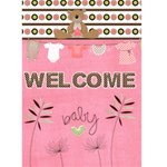 baby girl card - Greeting Card 5  x 7