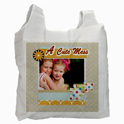 A Cute Mess By Joely   Recycle Bag (one Side)   54p81c5jh0a0   Www Artscow Com Front