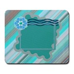 Blue flower mousepad - Large Mousepad