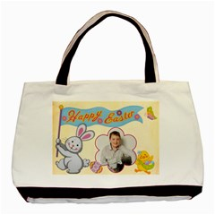 Happy Easter Double Sided Tote By Catvinnat   Basic Tote Bag (two Sides)   Uc2niqfkiihy   Www Artscow Com Front