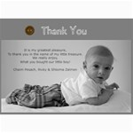 thank you card - 5  x 7  Photo Cards