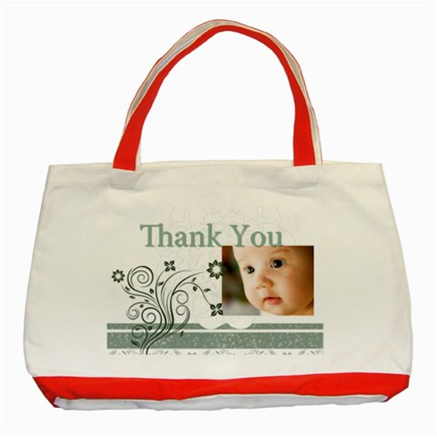 Thank You Bag By Joely   Classic Tote Bag (red)   Ocloepkqow3e   Www Artscow Com Front