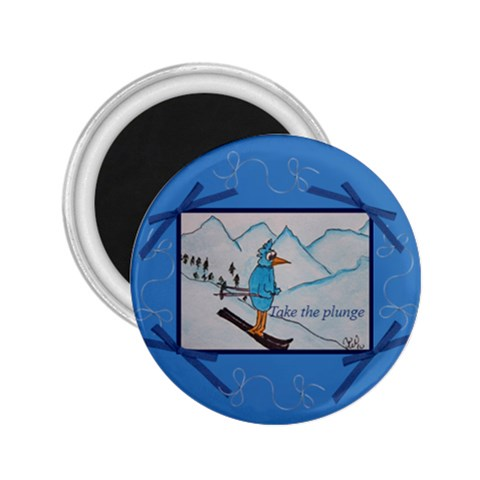 Take The Plunge By Trine   2 25  Magnet   Hy1lnkau8wxp   Www Artscow Com Front
