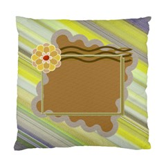 Yellow Flower Cushion Case 2s By Daniela   Standard Cushion Case (two Sides)   Gy4boe9tx5en   Www Artscow Com Back