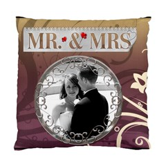 Mr  & Mrs  2 Sided Cushion Case By Lil    Standard Cushion Case (two Sides)   Acfpmm1nf6sp   Www Artscow Com Front