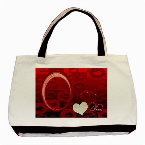 Red Love Tote By Ellan   Basic Tote Bag   Jiqczg73m4le   Www Artscow Com Front