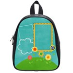Flowers doodles-Custom School Bag (Small)