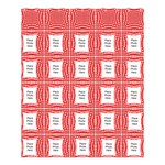 White and Red Medium Shower Curtain (large File) - Shower Curtain 60  x 72  (Medium)
