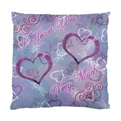 I Heart You Blue Swirls Double Sided Cushion Case By Ellan   Standard Cushion Case (two Sides)   Dtzo6k2ow1xe   Www Artscow Com Back