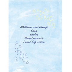 Baby Annoucement Card, Twins Or Boy/girl By Mikki   Greeting Card 4 5  X 6    372h0s9u6zys   Www Artscow Com Back Inside