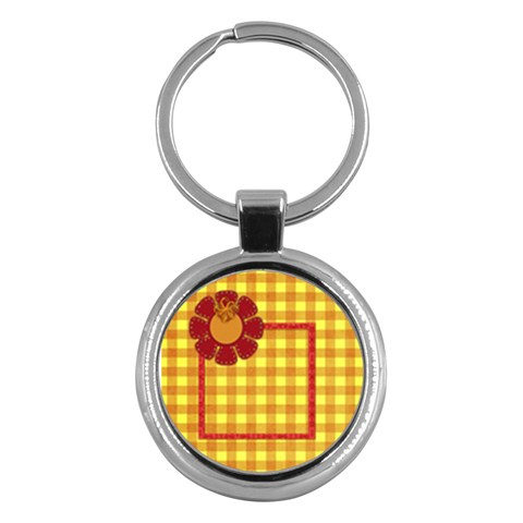 Buttercup Keychain 1 By Lisa Minor   Key Chain (round)   8o6v0leisj51   Www Artscow Com Front