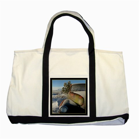 54 Chevy Tote By Ellan   Two Tone Tote Bag   Ulxgfx1bv9ej   Www Artscow Com Front