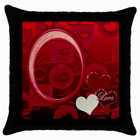 Love Red Throw Pillow By Ellan   Throw Pillow Case (black)   Ezr1l9baesj3   Www Artscow Com Front