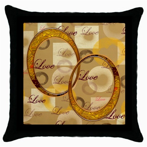 Love Gold 4 Throw Pillow By Ellan   Throw Pillow Case (black)   B9we67jidllv   Www Artscow Com Front