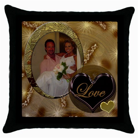 Love Gold 2 Throw Pillow By Ellan   Throw Pillow Case (black)   Ac6yj0zgwg5r   Www Artscow Com Front