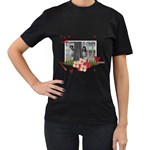 Women s Black T-Shirt  - Forever Love - Women s T-Shirt (Black)