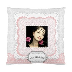 My Wedding By Joely   Standard Cushion Case (two Sides)   5o1wb434nvm2   Www Artscow Com Front