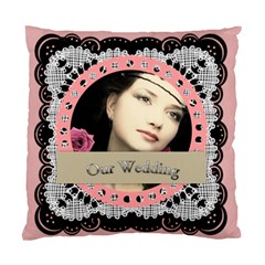 My Wedding By Joely   Standard Cushion Case (two Sides)   5o1wb434nvm2   Www Artscow Com Back