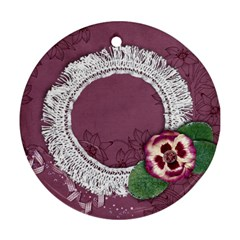 Purple Gardens  Ornament (2 Sides) By Mikki   Round Ornament (two Sides)   Enk18alsgwuv   Www Artscow Com Front