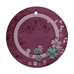 Purple Gardens  Ornament (2 Sides) By Mikki   Round Ornament (two Sides)   Enk18alsgwuv   Www Artscow Com Back