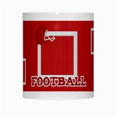 Touchdown (black And Red) Mug 2 By Chelsea Winsor   White Mug   Dh760o6p1359   Www Artscow Com Center