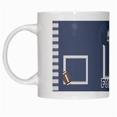 Touchdown (green And Blue) Mug By Chelsea Winsor   White Mug   Etdd3dkcyqno   Www Artscow Com Left