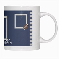Touchdown (green And Blue) Mug By Chelsea Winsor   White Mug   Etdd3dkcyqno   Www Artscow Com Right