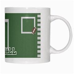 Touchdown (green And Blue) Mug 2 By Chelsea Winsor   White Mug   1jj6m053z9e6   Www Artscow Com Right