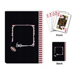 Touchdown (Black and Red) Playing Cards - Playing Cards Single Design